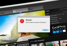 Risolvere errori GoPro Studio