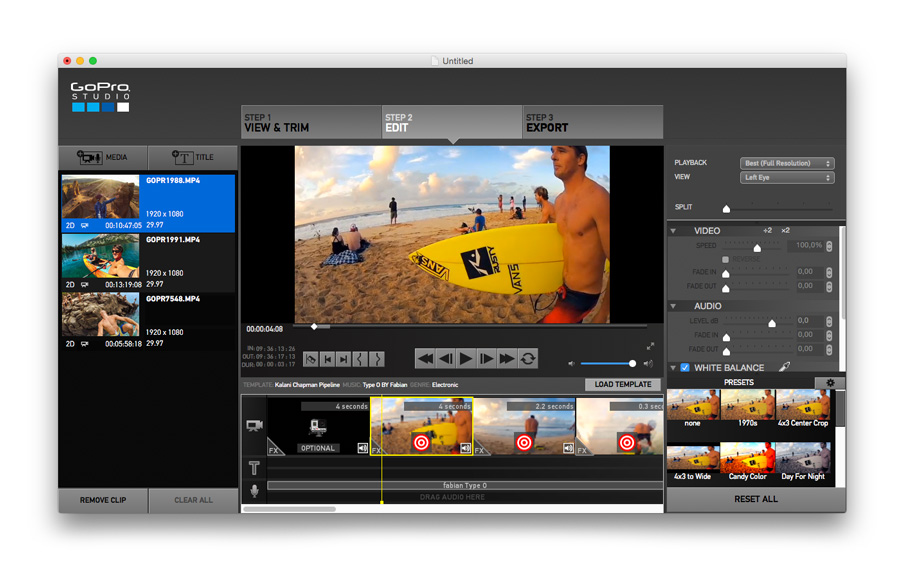 Gopro quik editing facile e veloce a portata di dito for How to use gopro studio templates