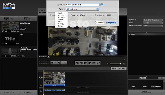 how to get still pics with gopro studio vedio