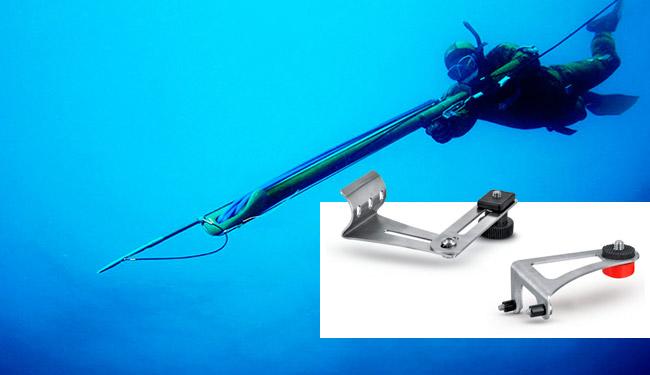 staffe gopro fucile da pesca