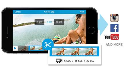 gopro app edtare filmati