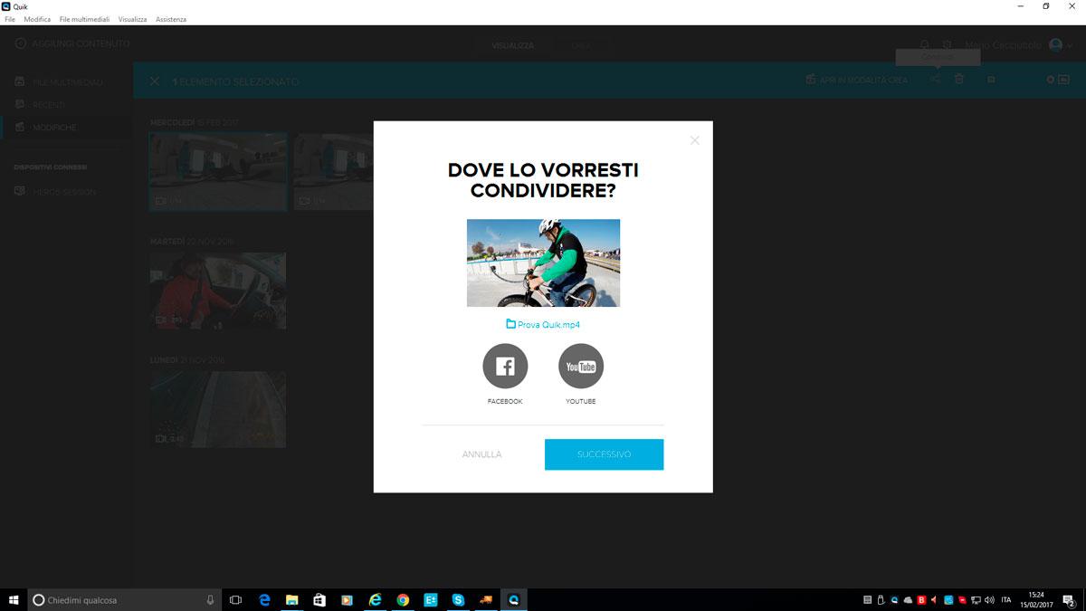 condivisione video gopro