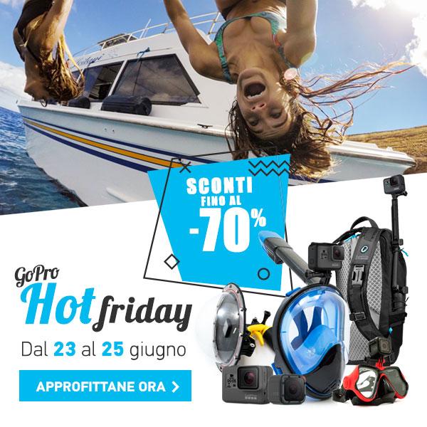 GoPro Hot Friday, l'estate esplode con sconti fino al 70%