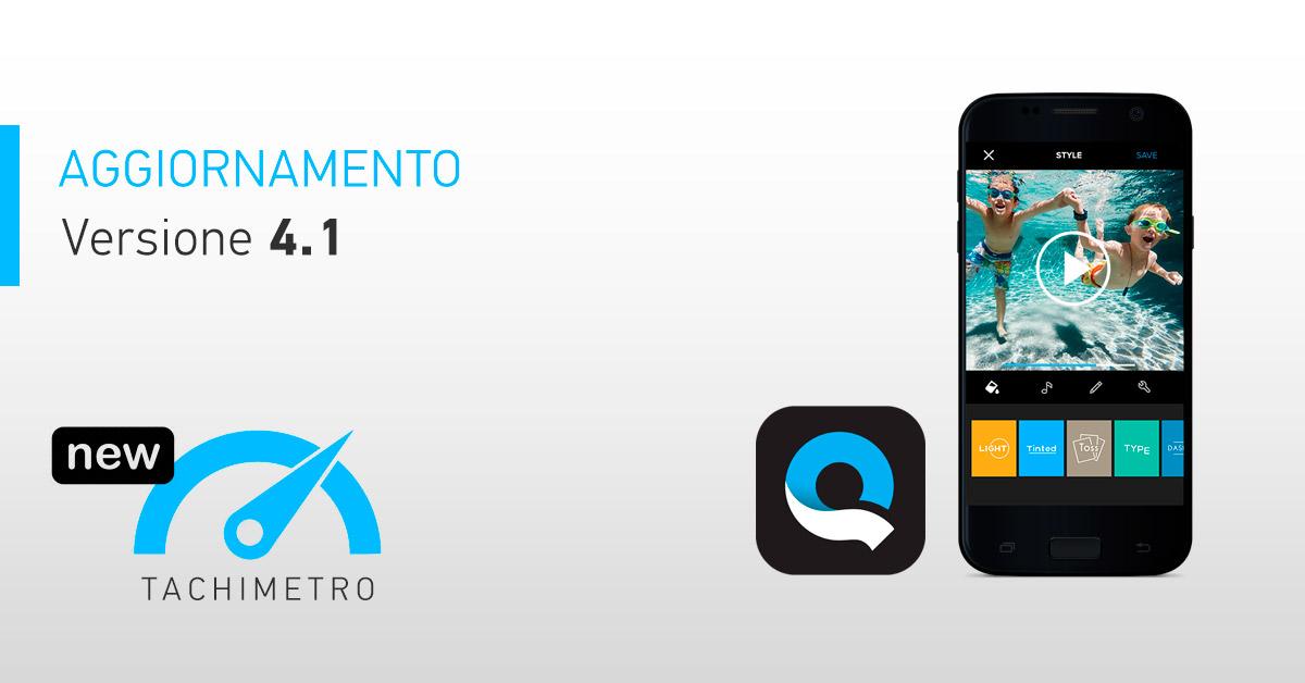 c98ada37a5 È stato appena rilasciato un nuovo aggiornamento per l'app iOS (a breve  anche per Android) di GoPro Quik alla versione 4.1. Tra le tante novità, da  oggi, ...