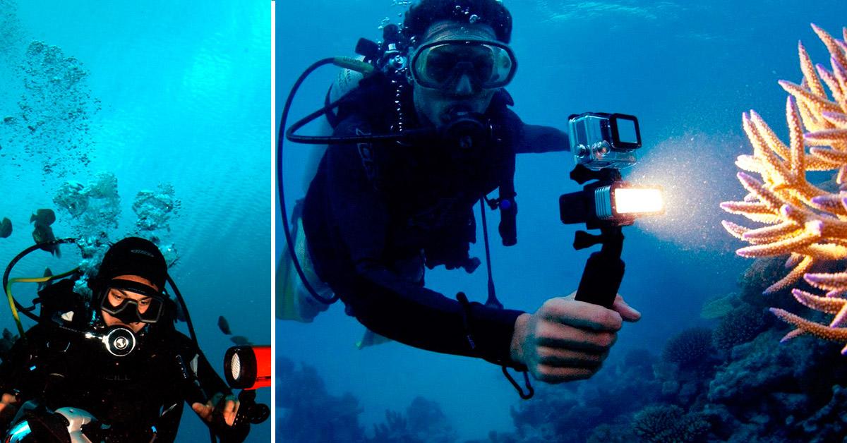 Action Camera Subacquea : Immersioni guida all illuminazione subacquea gopro gocamera
