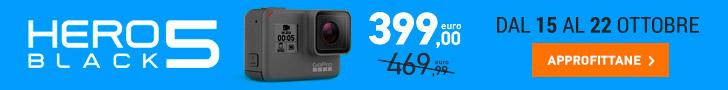 GoPro HERO5 Black in offerta su un numero limitati di pezzi