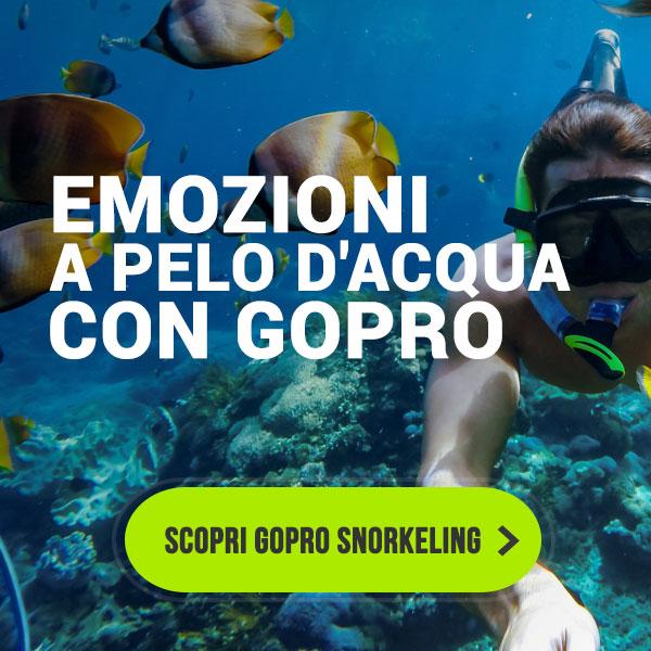 Emozioni a pelo d'acqua con GoPro