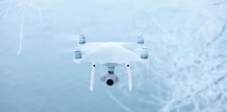 volare con drone in inverno