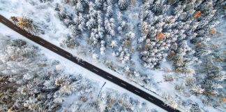scattare foto invernali drone dji