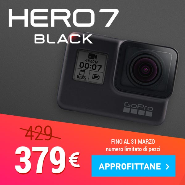 sconto gopro hero7 black
