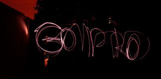 light painting gopro hero8