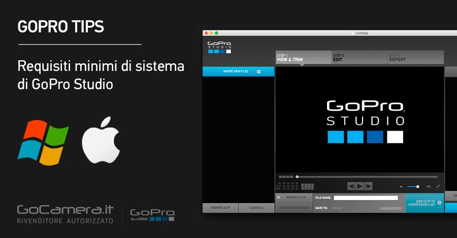 GoPro Studio Requisiti Minimi di Sistema
