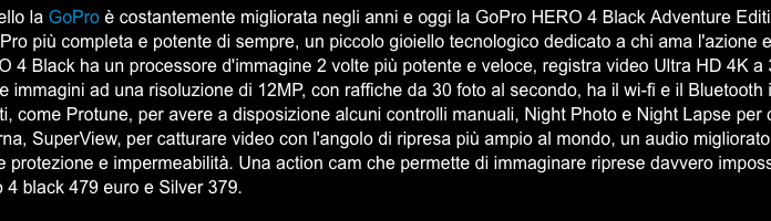 Repubblica e GoPro HERO 4