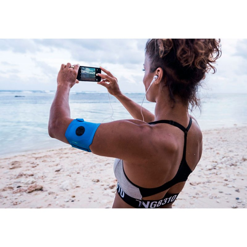 SP Connect Fascia Fitness Blue con supporto smartphone