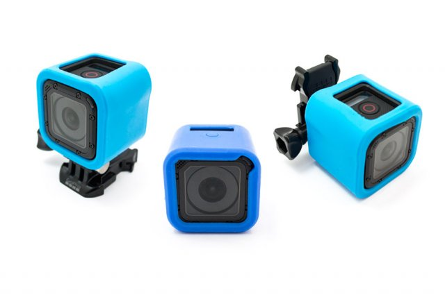 GoCamera Bumper Cover Kit Blue per GoPro Session
