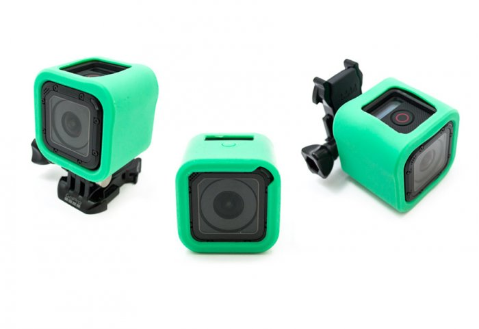 GoCamera Bumper Cover Kit Green per GoPro Session