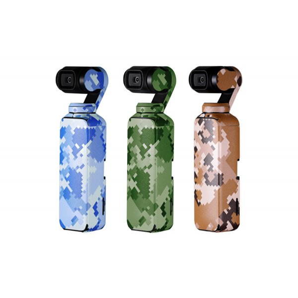 PGYTECH 3-Pack Adesivi per DJI Osmo Pocket - Camouflage