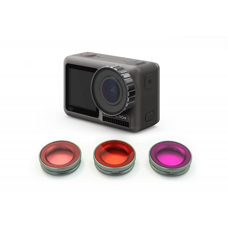 Kit 3 filtri subacquei per DJI Osmo Action (Refurbished)