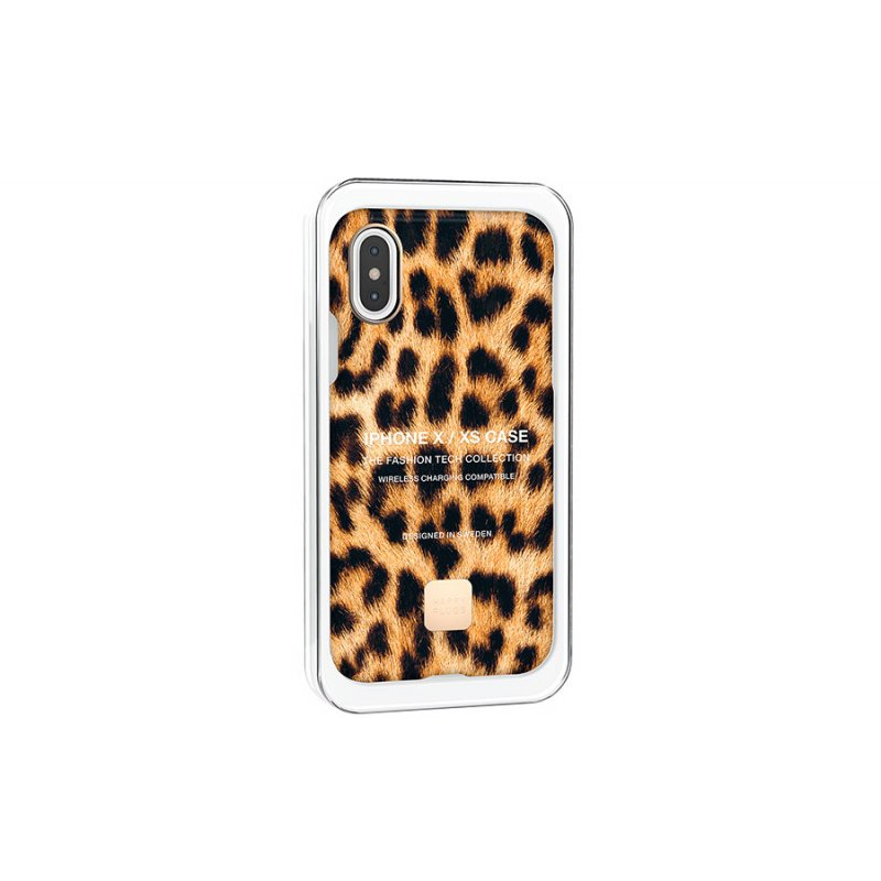 Happy Plugs Cover per iPhone X/XS Leopard