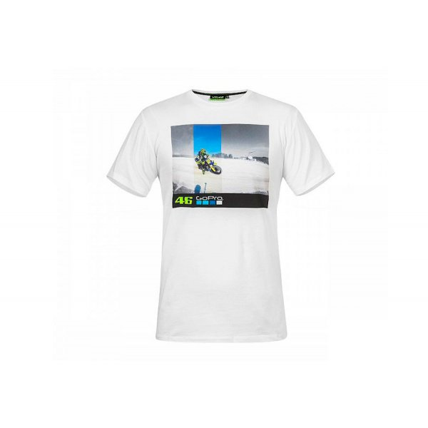 VR46 GoPro T-Shirt Ufficiale Unisex Bianco