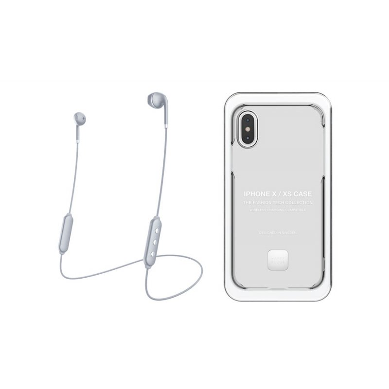 Happy Plugs Wireless II + Cover iPhone X/XS - Transparent