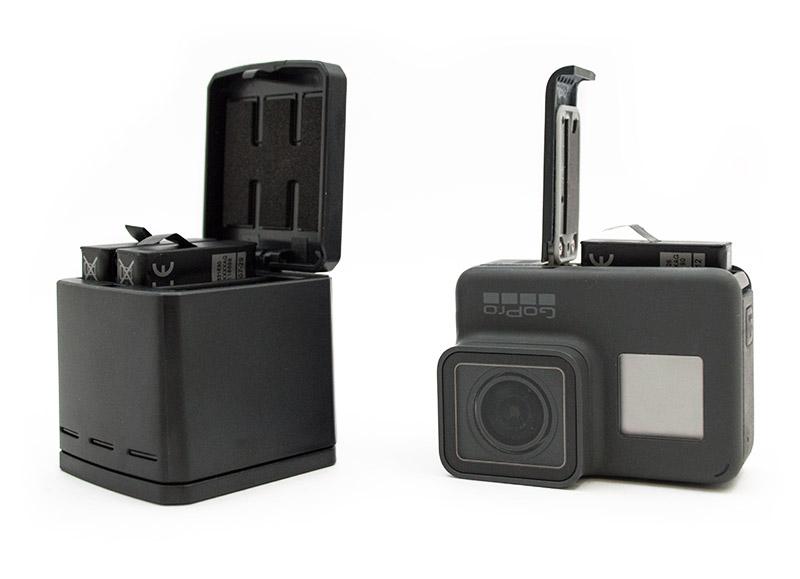 Caricabatterie Triplo per GoPro HERO6/HERO5 Black