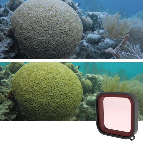 gopro filtro rosso snorkel