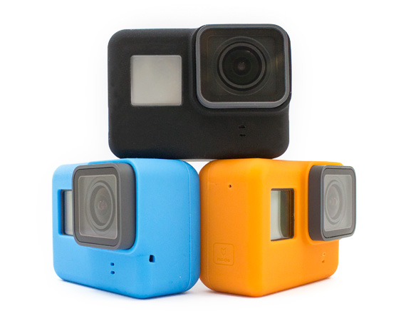 cover silicone colorata per gopro hero6 black