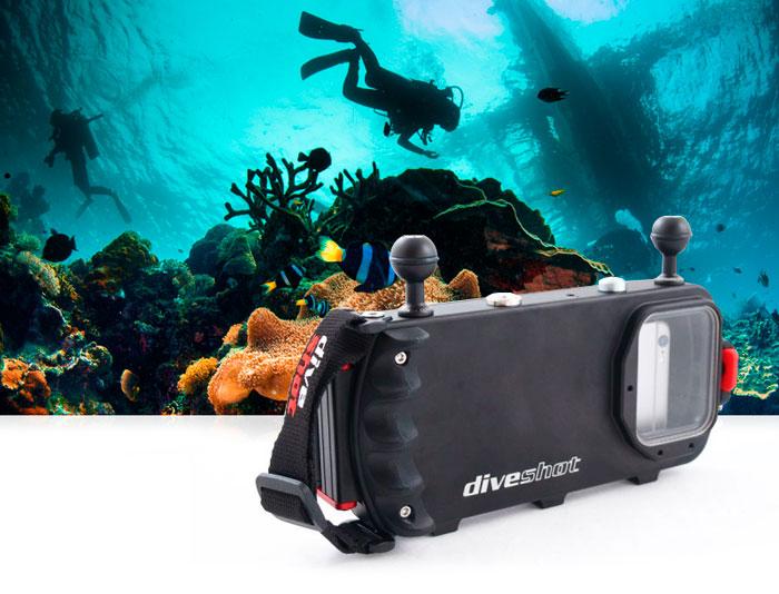 CarbonArm DiveShot custodia impermeabile 60m per smartphone
