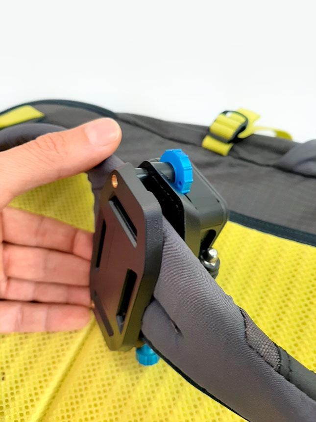 supporto fissaggio zaino per gopro