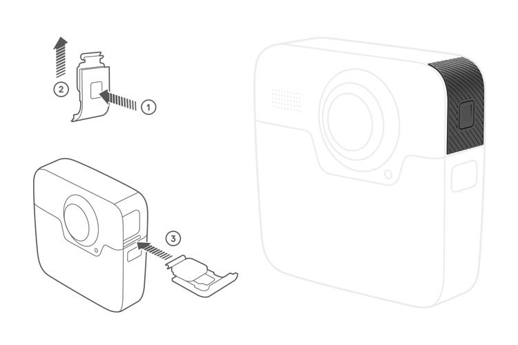 GoPro sportello laterale di ricambio per Fusion