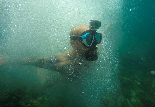 maschera subacquea gopro