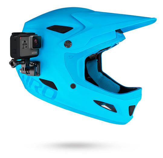 supporto gopro per fissaggio laterale casco