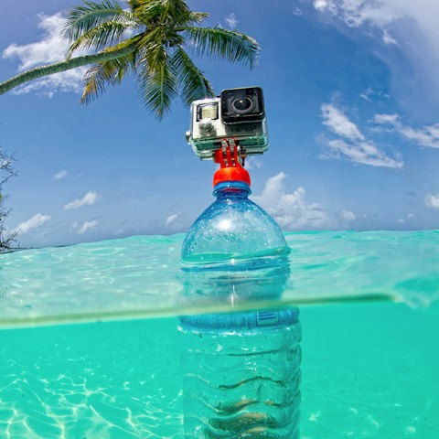 supporto gopro tappo bottiglia