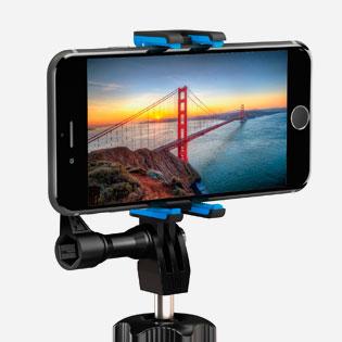 GoPole Flexbase treppiede per GoPro e smartphone