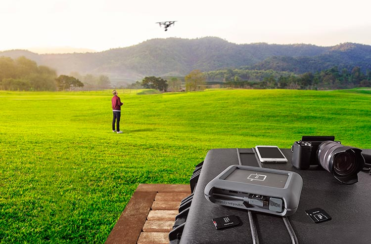 LaCie DJI Copilot hard disk e power bank per droni e GoPro
