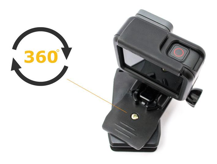 Morsa con Supporto per GoPro per fissaggio ultra rapido