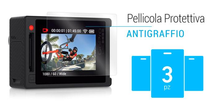 Pellicola Protettiva per LCD GoPro HERO4 Silver