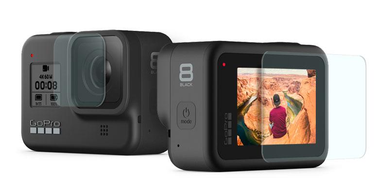 GoCamera pellicole in vetro temperato per GoPro HERO8 Black