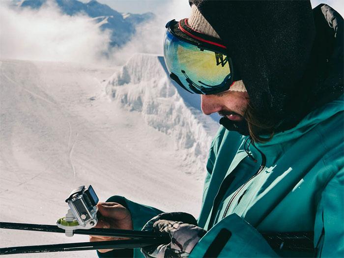 supporto barra tubolare per GoPro e smartphone