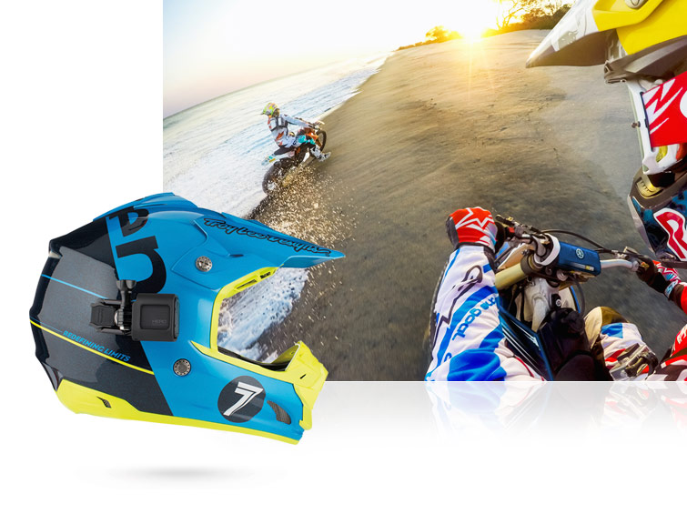 supporto casco gopro session