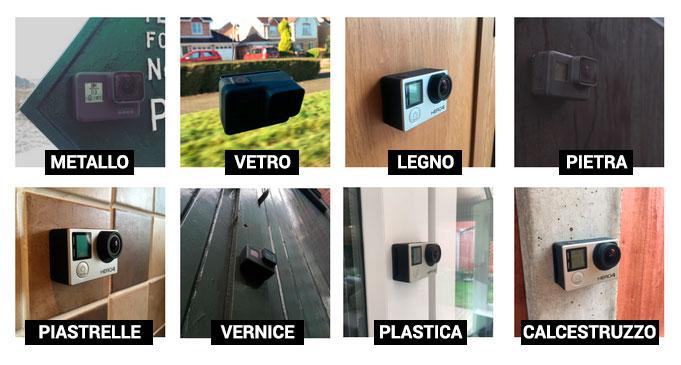 XClear Nano Suction supporto con micro ventose per GoPro