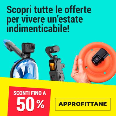 Offerte GoPro e DJI fino a -50% per la tua estate