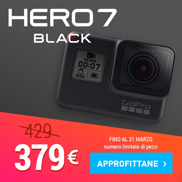 offerta gopro hero7 black