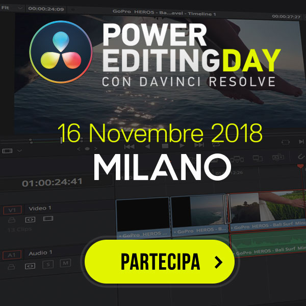 PowerEditing Day con DaVinci Resolve