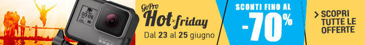 GoPro Hot Friday Sconti GoPro fino al 70%