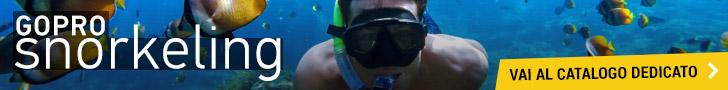 catalogo accessori gopro per lo snorkeling