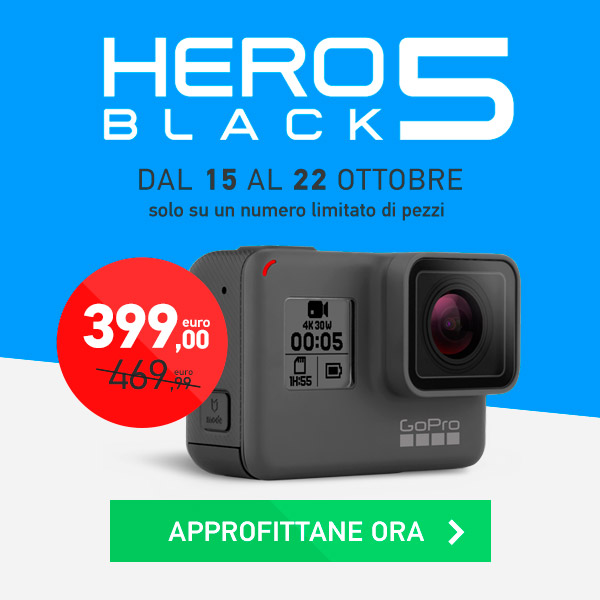 GoPro HERO5 Black in offerta a 399€