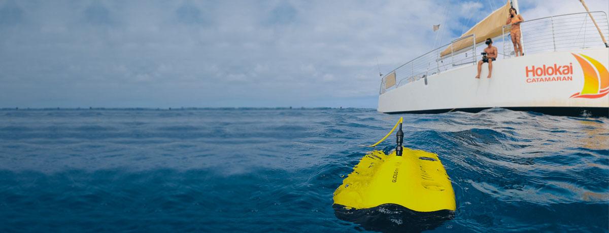 chasing droni subacquei
