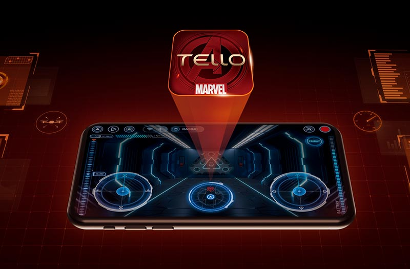 tello hero app interfaccia